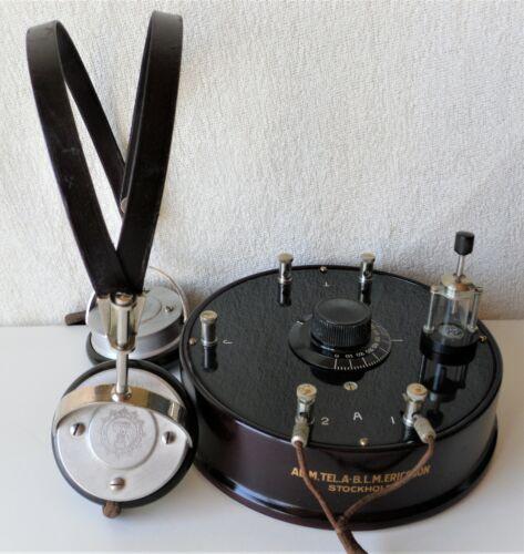 ALLM.TEL.A-B.L.M.ERICSSON-STOCKHOLM 1926 CRYSTAL RADIO+HEADPHONES ERICSSON