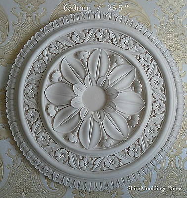 """Plaster Ceiling Rose Large Beautiful  650mm / 25.5""""  CR61 Hand crafted"""