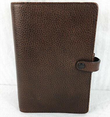 Vintage Filofax Finsbury Leather Organzer Brown Planner Agenda Binder