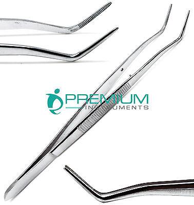 Meriam Foil Serrated Angled Tip Tweezer 16cm Dental Surgical Cotton Pick Forceps