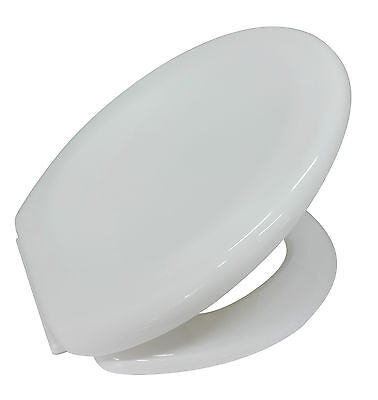 "White Plastic Lightweight ""Prima"" Soft Close Toilet Seat With Fixings"