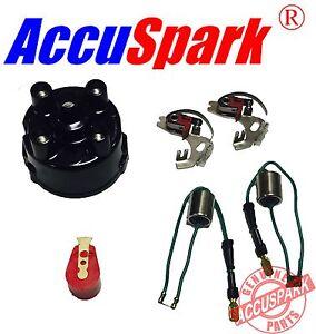 Mini-Puntos-condensador-Brazo-De-Rotor-Rojo-Tapa-del-distribuidor-Arranque-kit-4
