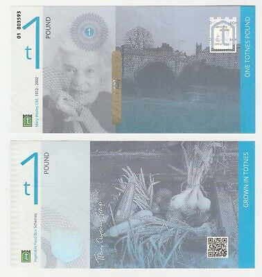 United Kingdom - Britain - Totnes 1 Pound UNC Local Currency Banknote