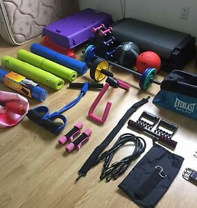 Massive home gym collection