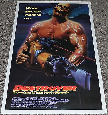DESTROYER 1988 ORIGINAL 27x41 MOVIE POSTER! LYLE ALZADO HORROR EXPLOITATION!