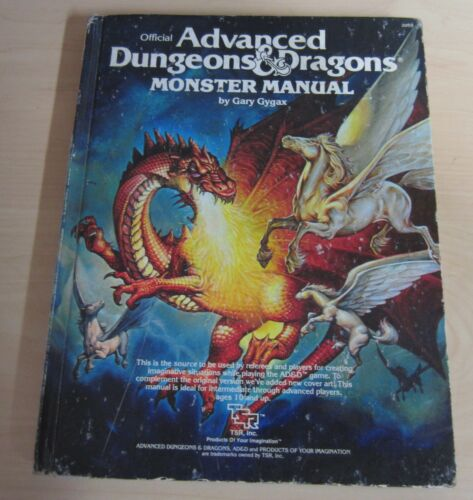 Advanced Dungeons & Dragons Monster Manual 1979 TSR  Gary Gygax