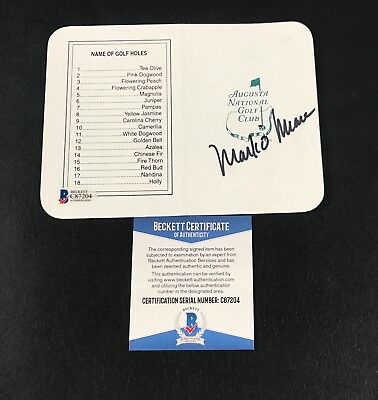 1998 Win Mark Omeara Signed Authentic Autograph Masters Scorecard Bas Beckett