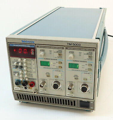 Tektronix Tm 5003 Mainframe W Dm 502a Autoranging Dmm Am 503b Current Probe..