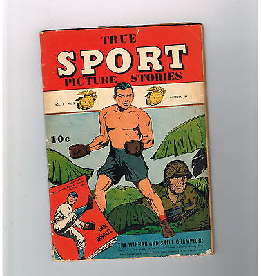 TRUE SPORT PICTURE STORIES (v2) #3 True sports heroes from the Gold Age (1943)!!