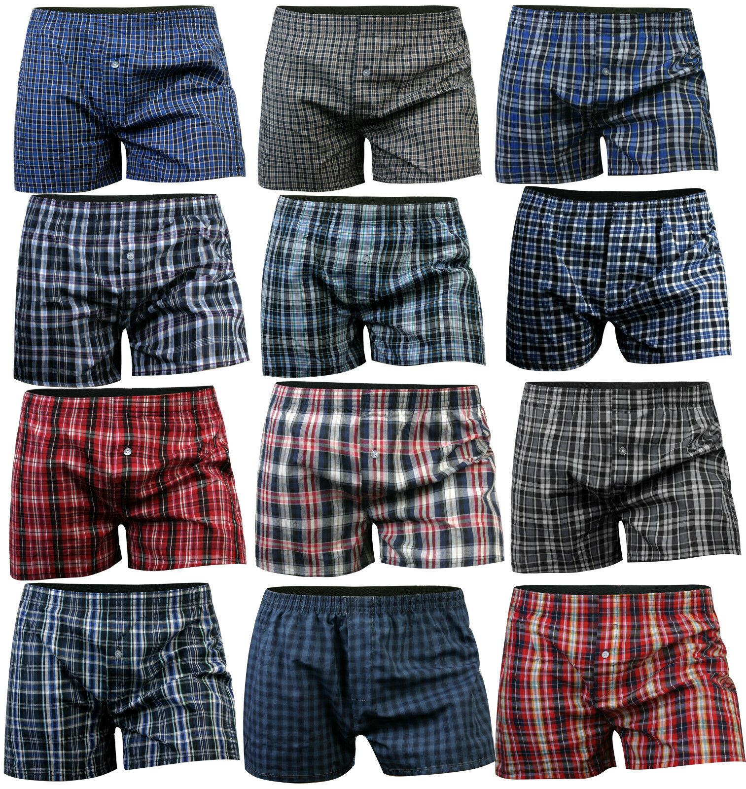 4 - 20 Paket Webboxer Boxershorts Baumwolle Boxer Shorts Unterhose S M L XL XXL