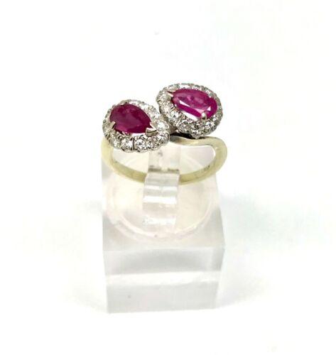 Vintage RUBY & DIAMOND Ring - w/ Card Appraisal - Sz 3