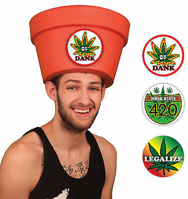 Simple Costumes for Men - Legalize Marijuana Halloween Pot Head Hat Combo  ](Simple Costumes For Halloween For Men)