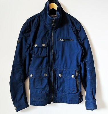 Superdry Navy Blue Motorcycle Jacket, Size XL Ultra Rare Men's