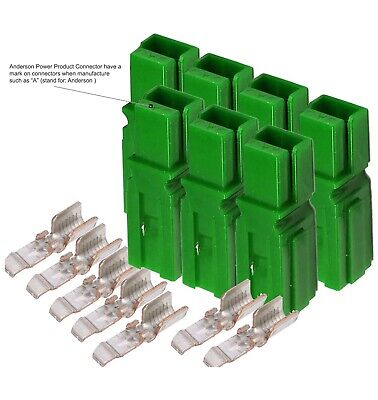 X7 45 Amp Anderson Powerpole Connectors Pp15 To 45 W14-10 Awg Green