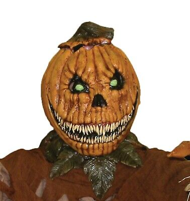 Halloween JACK-O-LANTERN PUMPKIN ROT Adult Latex Deluxe Mask Bump In The Night  ()