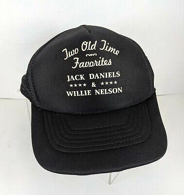 Willie Nelson & Jack Daniels-Hat-Vintage-Trucker-Snapback-Old Friends-RARE