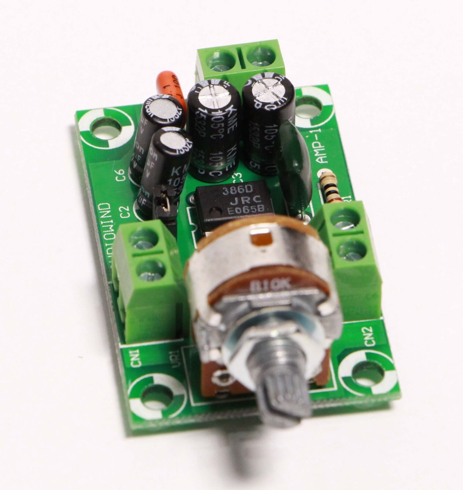 Cigar Box Guitar Amplifier Kit Battery Powered Amp Circuit Board Us Power Cableusa Cableamerica Cable Bk Industrial Jrc 386