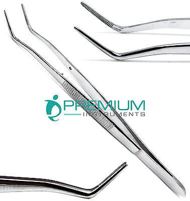Foil Meriam Tweezer 16cm Dental Dressing Angled Tip Surgical Forcep Instruments