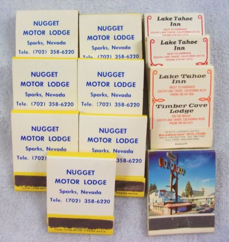 Lot of 11 Sparks Lake Tahoe Casino Hotel collectable advertising matchbooks LQQK