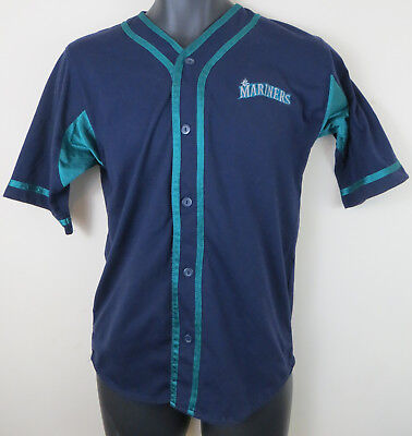 24d2ecd6176 Seattle Mariners Baseball Major League Jersey Shirt Top Youth Kids Large L  14-16