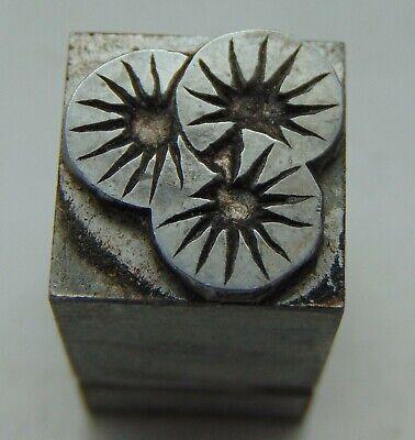 Printing Letterpress Printers Block Starburst Design