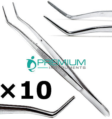 10 Dental Foilmeriam Serrated Tweezer 16cm Dressing Surgical Cotton Pliers