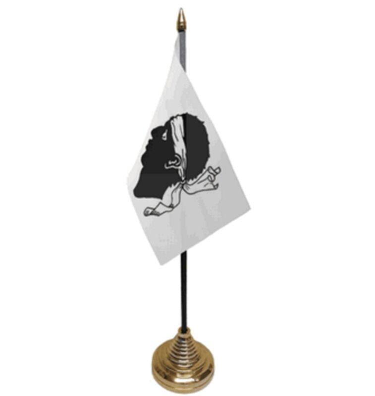 "CORSICA DESKTOP TABLE FLAG 6""X4"" 15cm x 10cm flags FRANCE FRENCH CORSICAN"