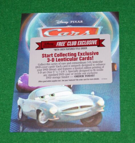 Disney Movie Club 3D Lenticular Pixar Cars Collector