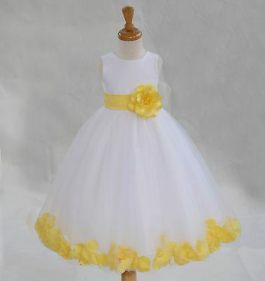 USA FREE SHIPPING WEDDING WHITE GIRL DRESS FLOWER PAGEANT COMMUNION EASTER NEW - Communion Dresses Usa