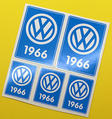 VW 1966 VOLKSWAGEN Year Date stickers INSIDE GLASS BEETLE SPLIT SCREEN CAMPER