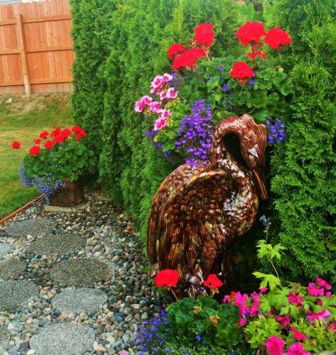 "37"" GARDEN PEDESTAL antique pottery majolica jardiniere vase bowl vtg zanesville"