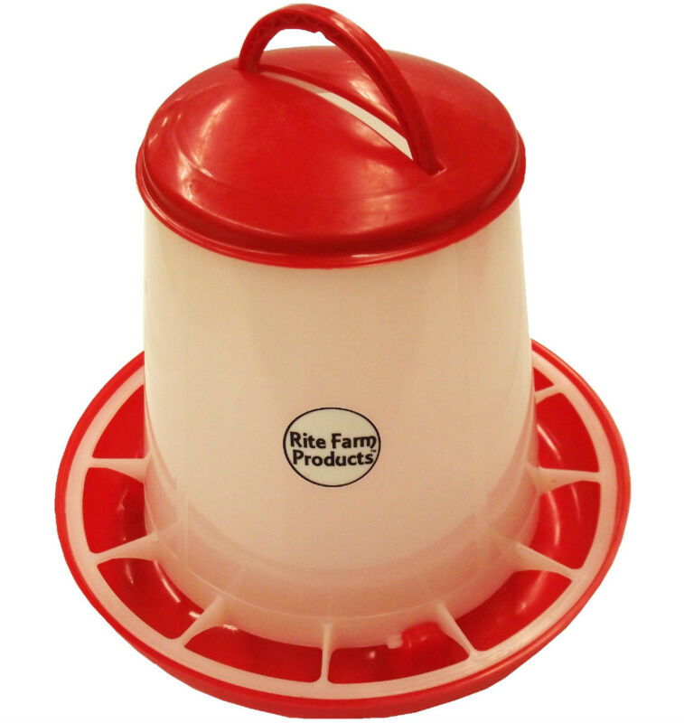 SMALL RITE FARM PRODUCTS HD 2 POUND CHICKEN FEEDER LID & HANDLE POULTRY CHICK