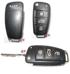 AUDI 3 BUTTON TRANSPONDER KEY A3 A4 A6 A8 Q7 TT 8P0 837 220 D FREE POST