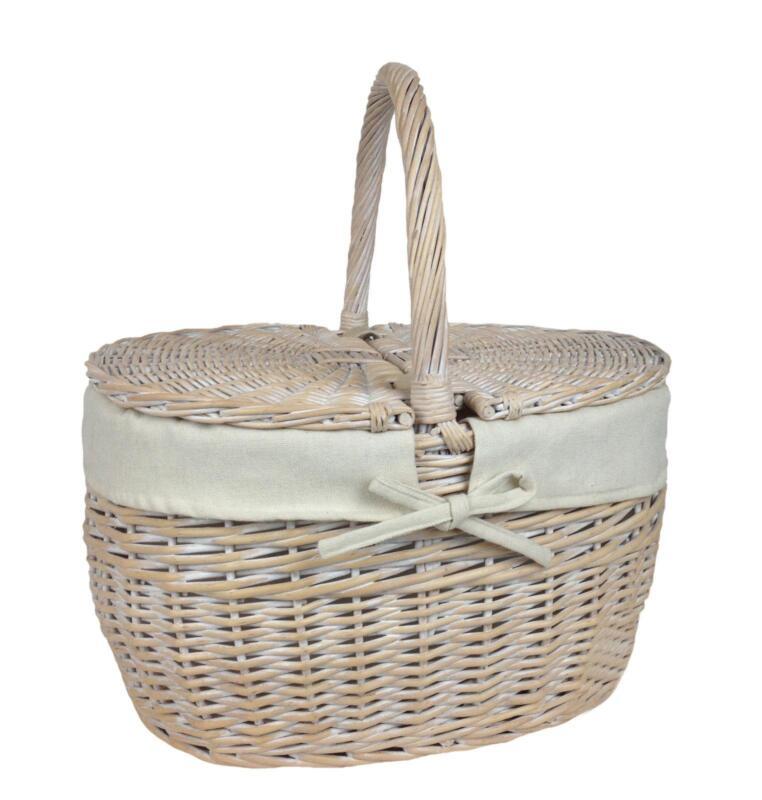 Wicker Storage Baskets Lid Ebay