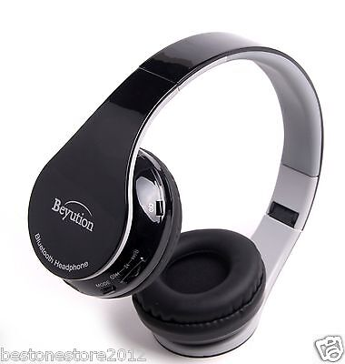 Best Gift HiFi Stereo wireless Bluetooth Headphones for all Cell phones with (Best Stereo Headset With Mic)