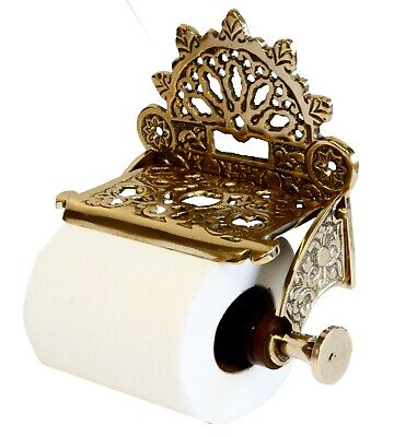 Solid Brass Finished Toilet Roll Holder – Victorian Style Antique Design