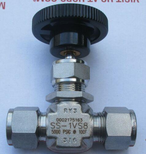 """Swagelok 1/2"""" Stainless Steel Bonnet Needle Valve SS-1VS8 Several Avail New"""