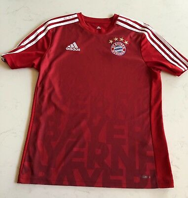 aa924b5fb Adidas FC Bayern Soccer Jersey Red Youth Large 13-14 years