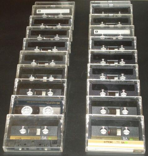 20 TDK SA CrO2 Type II Cassette Tapes