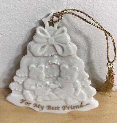 Lenox For My Best Friend Ceramic Ivory Christmas Tree Ornament (Best Christmas Tree For Ornaments)