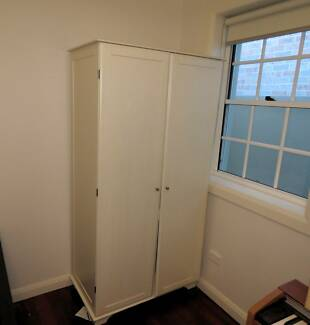 Wardrobe - white 2 door. Spacious hanging, shelf, 2 draws. Earlwood Canterbury Area Preview