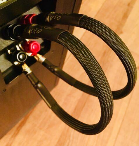 Audiophile Speaker Jumper Wire Nakamichi Banana/Spade 24k Gold 9AWG MUSCULAR