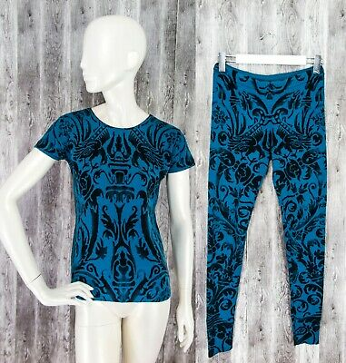 Iris Von Arnim 100% Cashmere Set Top Jumper Sweater and Legging Suit RARE: M