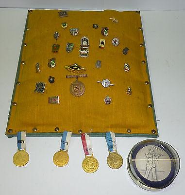 30 Anstecknadeln + Medaille nach 1945 Schützenverein DSB Deutscher Schützenbund