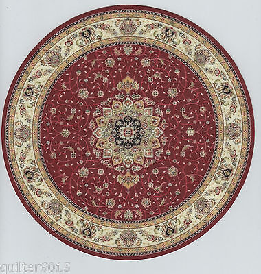 1 12 Scale Dollhouse Round Oriental Area Rug 0001013   Approximately 8