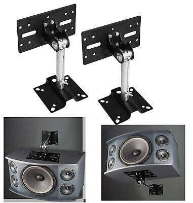 Universal Speaker Mounts Metal Bracket Wall Ceiling Mount Load 15kg Adjustable