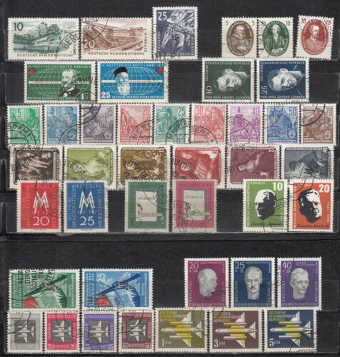 East Germany GDR 1957 - 12 full sets - used (a13)