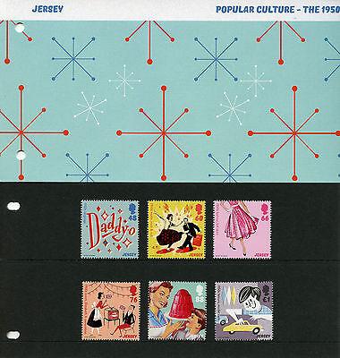 Jersey 2016 MNH 1950s Popular Culture 6v Set Presentation Pack Music Stamps