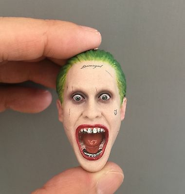 Custom Scream Joker 1//6 Head Sculpt for Hot Toys Suicide Squad Jared Leto Body