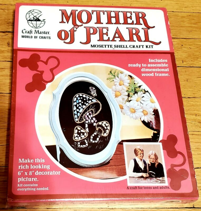 Vintage Craftmaster Mother Of Pearl 1973 Mosette Shell Craft Kit New